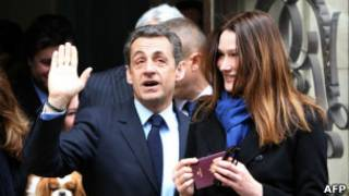 President Sarkozy and his wife cast their vote on Sunday