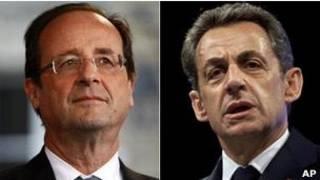 François Hollande a Nicolas Sarkozy