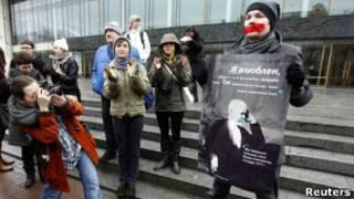 Демонстрация в защиту прав геев в Петербурге