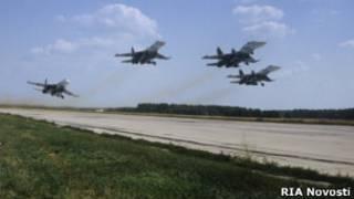 Росссийские военные самолеты