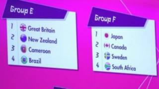 女足方面,英国也没有抽到上签