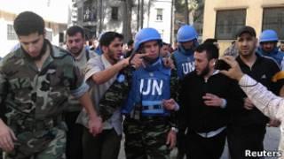 Наблюдатели ООН в Сирии