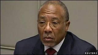 Ông Charles Taylor tại Tòa án quốc tế La Hay ngày 26/4/2012