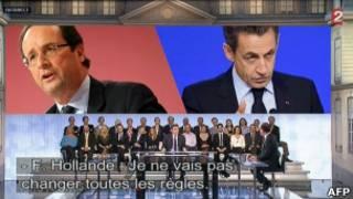 Во время интервью с кандидатами на французском телевидении