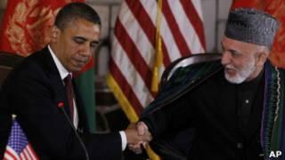 اوباما و کرزی