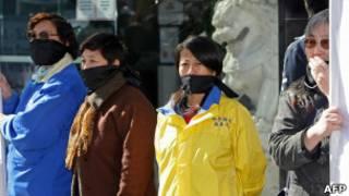 Protesto pela liberdade de expressão na China.   Foto: AFP