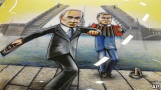 """Изображение Путина и Медведева на капоте """"Лады"""""""