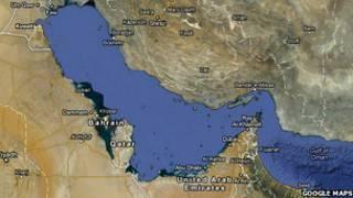 الخليج على خريطة غوغل