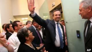 زعيم حزب الديمقراطية الجديد انطونيو ساماراس