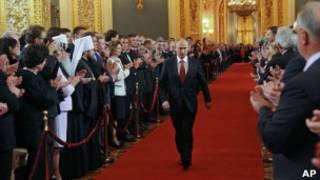 Путин на инаугурации в Кремле