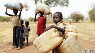 نازحون سودانيون
