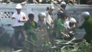 Hình ảnh video vụ cưỡng chế Văn Giang