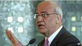 كبير المفاوضين الفلسطينيين، صائب عريقات
