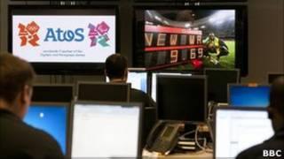 Centro de Operações Tecnológicas da Olimpíada, na Grã-Bretanha. | Foto: BBC