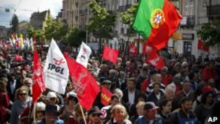 Демонстрация 1 мая в Португалии