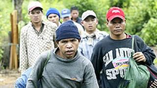 Người Thượng xin tỵ nạn ở Campuchia -hình tư liệu