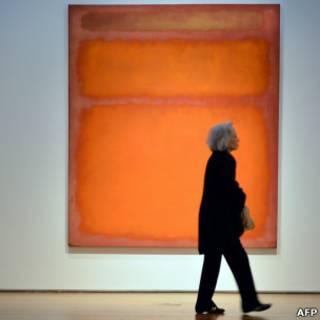 罗斯科的抽象画橙、红、黄