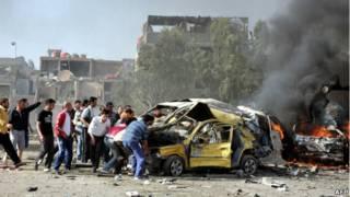 Ledakan di ibukota Suriah, Damaskus.