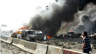 Hiện trường vụ đánh bom xe ở Syria hôm 10/5/2012