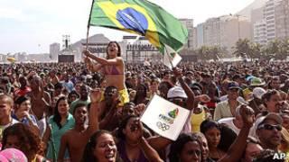 Manifestantes no Rio de Janeiro.   Foto: AP