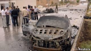 حطام سيارة في حلب