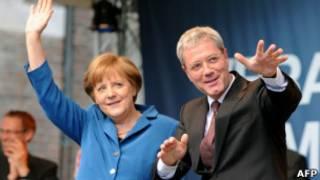Angela Merkel e Norbert Roettgen