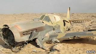Avión de combate de la II Guerra Mundial encontrado en el desierto