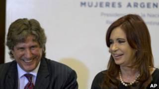 Amado Boudou y Cristina Fernández