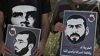 Плакаты палестинских заключенных в израильских тюрьмах
