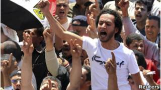 متظاهرون بميدان التحرير بالقاهرة