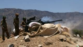 قوات الجيش اليمني بالقرب من لودر