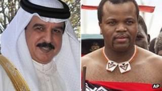ملكا البحرين وسوازيلاند