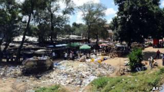 Soko mjini Lilongwe, Malawi