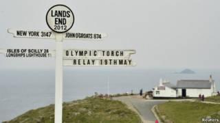 奥运火炬传递地理指示牌