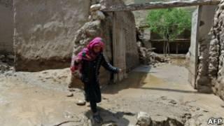 سیلاب در منطقه دهمردان سرپل