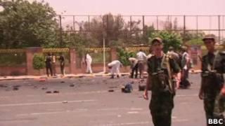 موقع انفجار سابق في اليمن (ارشيف)
