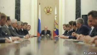 Владимир Путин председательствует на заседании нового кабинета 21 мая 2012 года