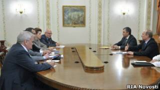 Путин проводит встречу в Ново-Огарево