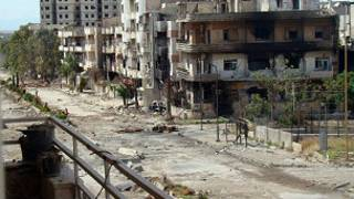 آثار الدمار في حمص