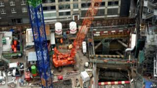 倫敦市中心建築工地