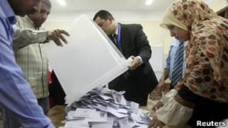 Подсчет голосов на президентских выборах в Египте