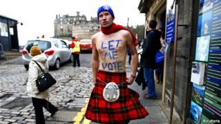 蘇格蘭獨立公投支持者