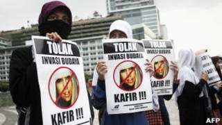 Người Indonesia phản đối Lady Gaga