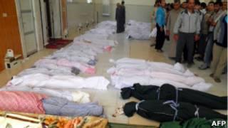 Трупы в Хуле (снимок распространен сирийской оппозицией)