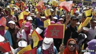 تظاهرات در مراکش