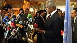 Kofi Annan, wakilin MDD a Syria