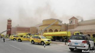 آتش سوزی مرکز خرید
