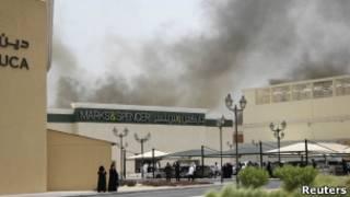 حريق مركز تجاري بالدوحة