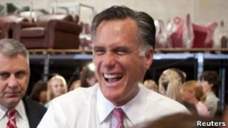 Romney durante as prévias do Texas, em que se sagrou vitorioso (Reuters)