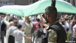 На улице сирийского города